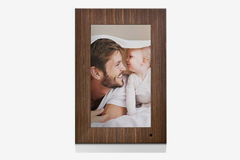 NIX Lux 13.3-inch Digital Picture Frame with Wood Frame