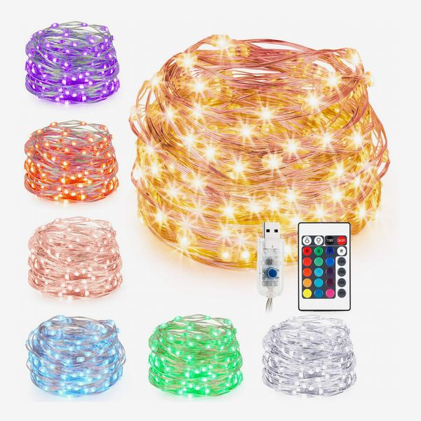 Kohree 33ft 100 LEDs 16 Colors, USB Powered Multi Color Changing String Lights with Remote