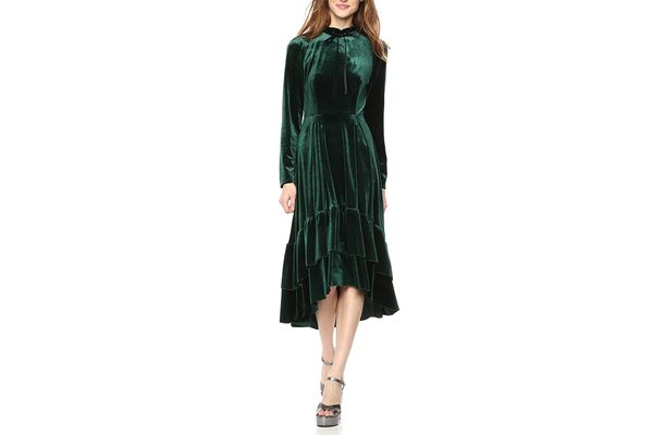 Wild Meadow Women's Long Sleeve Hi-Lo Ruffle Dress