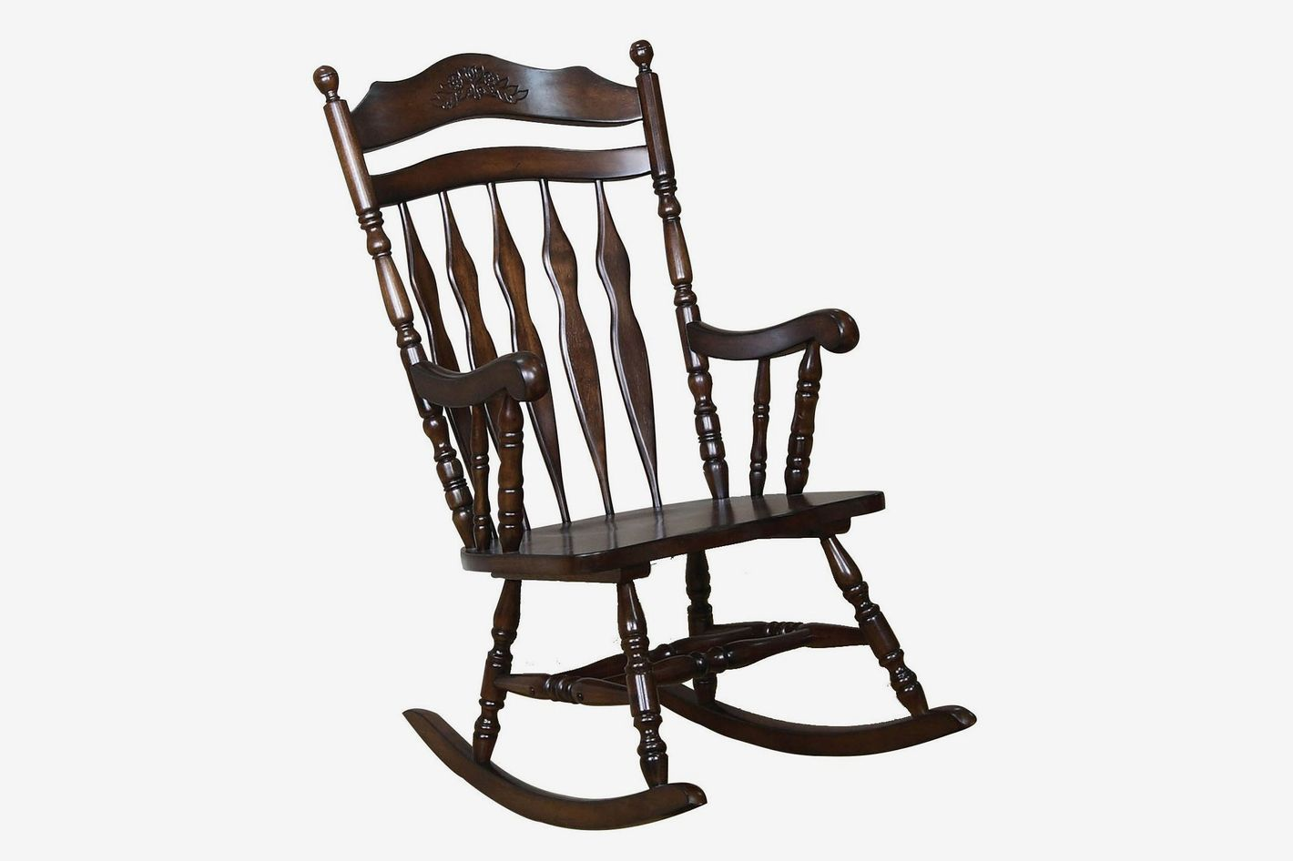 Charmant Coaster Home Furnishings Traditional Medium Brown Wood Rocking Chair