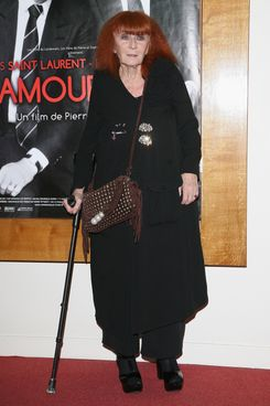 Sonia Rykiel  attends 'L'Amour Fou' Paris premiere  at Cinema l'Arlequin on September 20, 2010 in Paris, France.