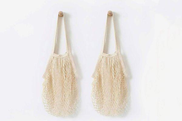 Hotshine Long Handle Net Tote, 5-pack