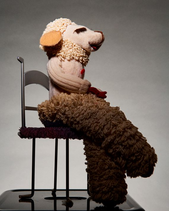 Lamb Chop. Created by Shari Lewis in 1957. This one was made by James Patrick Brymer (2000).