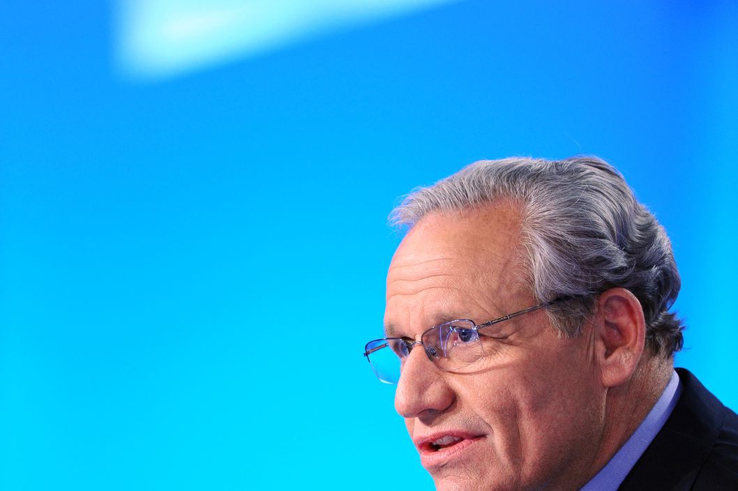 "US journalist Bob Woodward takes part in the TV show ""Le Grand Journal"" on Canal+ channel, on April 7, 2011 in Paris. Woodward, and investigative reporter who works for the Washington Post since 1971, did much of the original news reporting on the Watergate scandal, along with his colleague Carl Bernstein. AFP PHOTO MIGUEL MEDINA (Photo credit should read MIGUEL MEDINA/AFP/Getty Images)"
