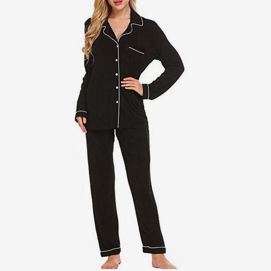 Ekouaer Pajamas Soft PJ Set