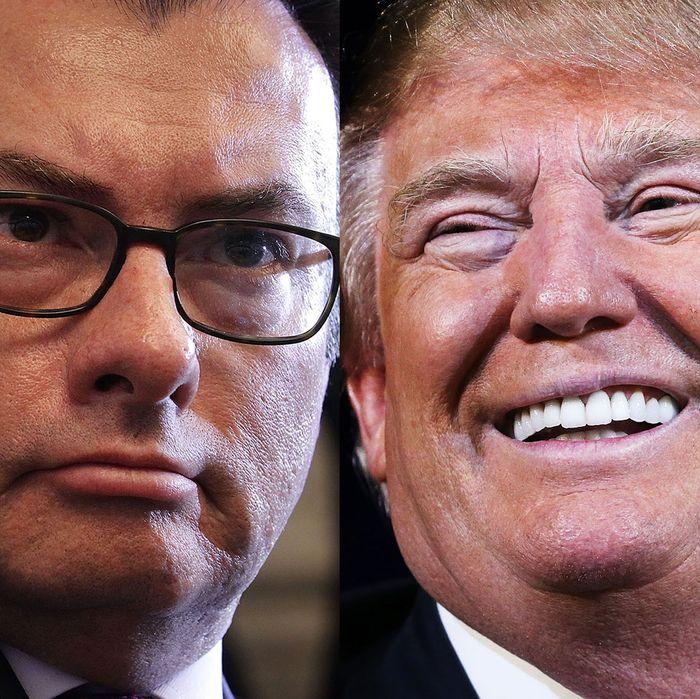 Luis Videgaray Caso and Donald Trump