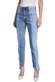 E.L.V Denim The Straight-Leg Step-Hem Jeans