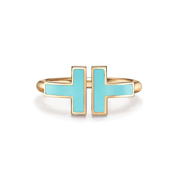 Tiffany T Turquoise Square Ring