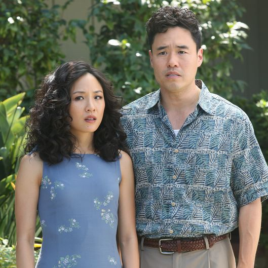 "FRESH OFF THE BOAT - ""Success Perm"" - Family rivalry spirals out of control when Jessica's sister, Connie, and her far more affluent husband come to visit. The Huangs try to convince everyone they're doing great financially, when nothing could be further from the truth. Meanwhile, Eddie is excited to be reunited with his cousin Justin, who introduced him to hip hop, until he learns the kid has moved on to grunge, on ""Fresh Off the Boat,"" TUESDAY, FEBRUARY 10 (8:30-9:00 p.m., ET) on the ABC Television Network. (ABC/Gilles Mingasson)CONSTANCE WU, RANDALL PARK"