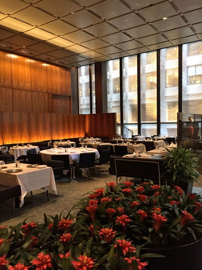 The Four Seasons Restaurant's famed Grill Room.