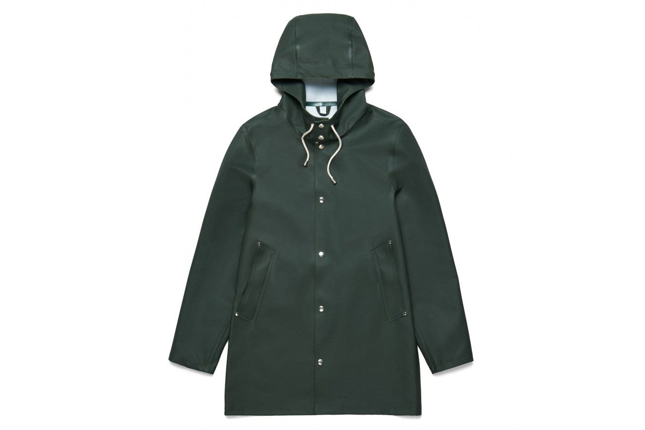 Stutterheim Green Raincoat