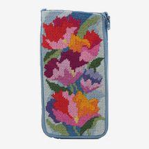 Stitch & Zip Needlepoint Eyeglass Case Kit, 'Watercolor Poppies'