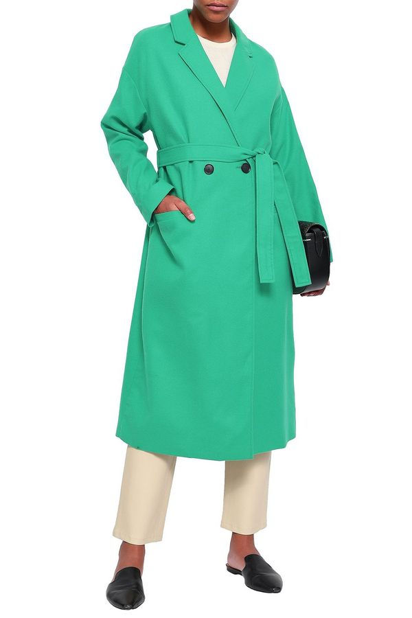 American Vintage Double-breasted Belted Wool-blend Felt Coat