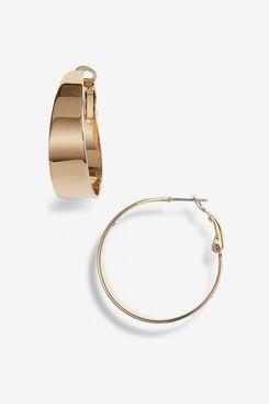 Vince Camuto Medium Tapered Hoop Earrings