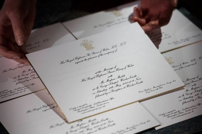 Meghan Markle and Prince Harry royal wedding invitations.