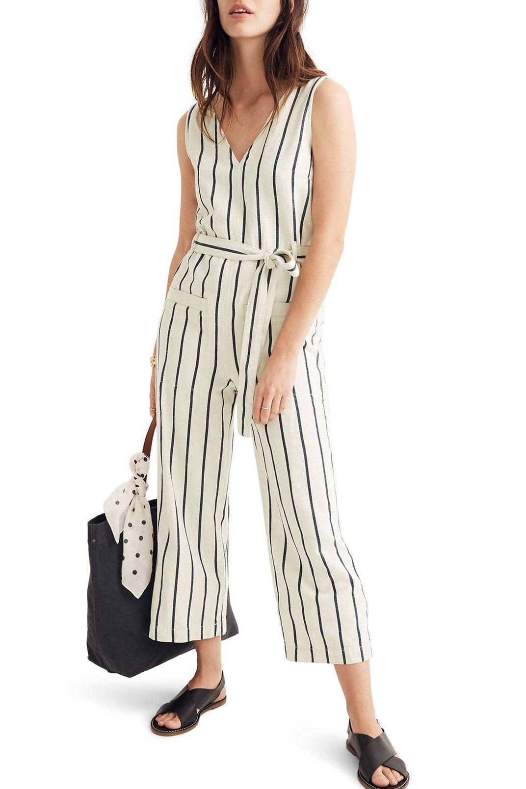 Madewell Stripe Jumpsuit