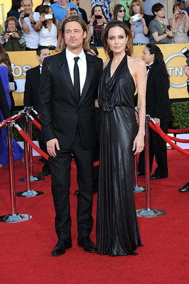 Brad Pitt, Angelina Jolie== 18th Annual Screen Actors Guild Awards== Shrine Auditorium, Los Angeles, CA== January 29, 2012== ?Patrick McMullan== Photo - ANDREAS BRANCH/PatrickMcMullan.com==