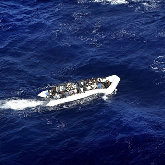 Italian Navy's Operation 'Mare Nostrum' in Mediterranean Sea