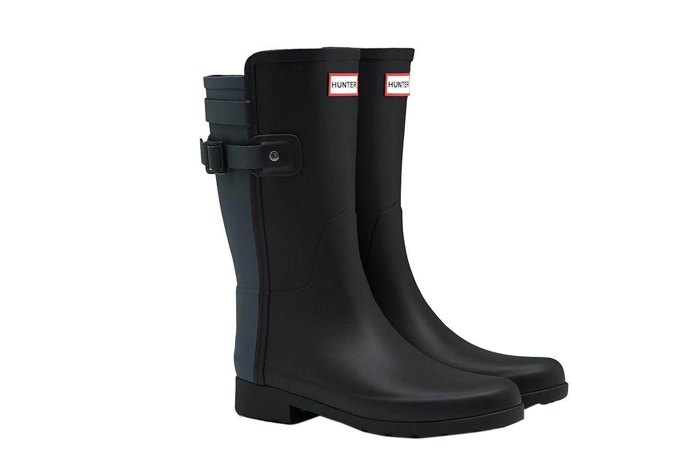 Hunter Original Short Refined Back Strap Rain Boots