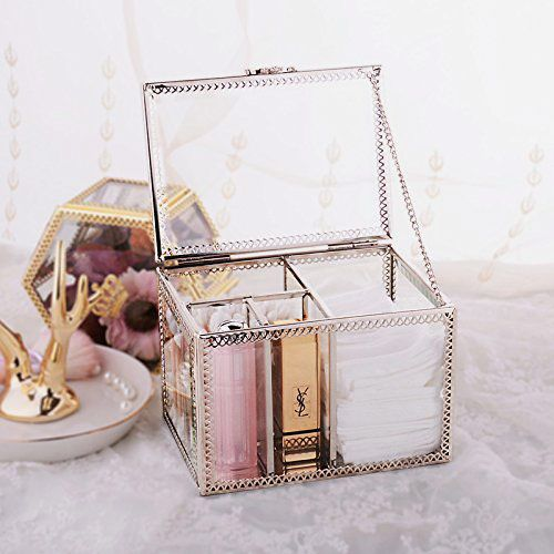 PuTwo Dustproof Storage Box Makeup Organizer