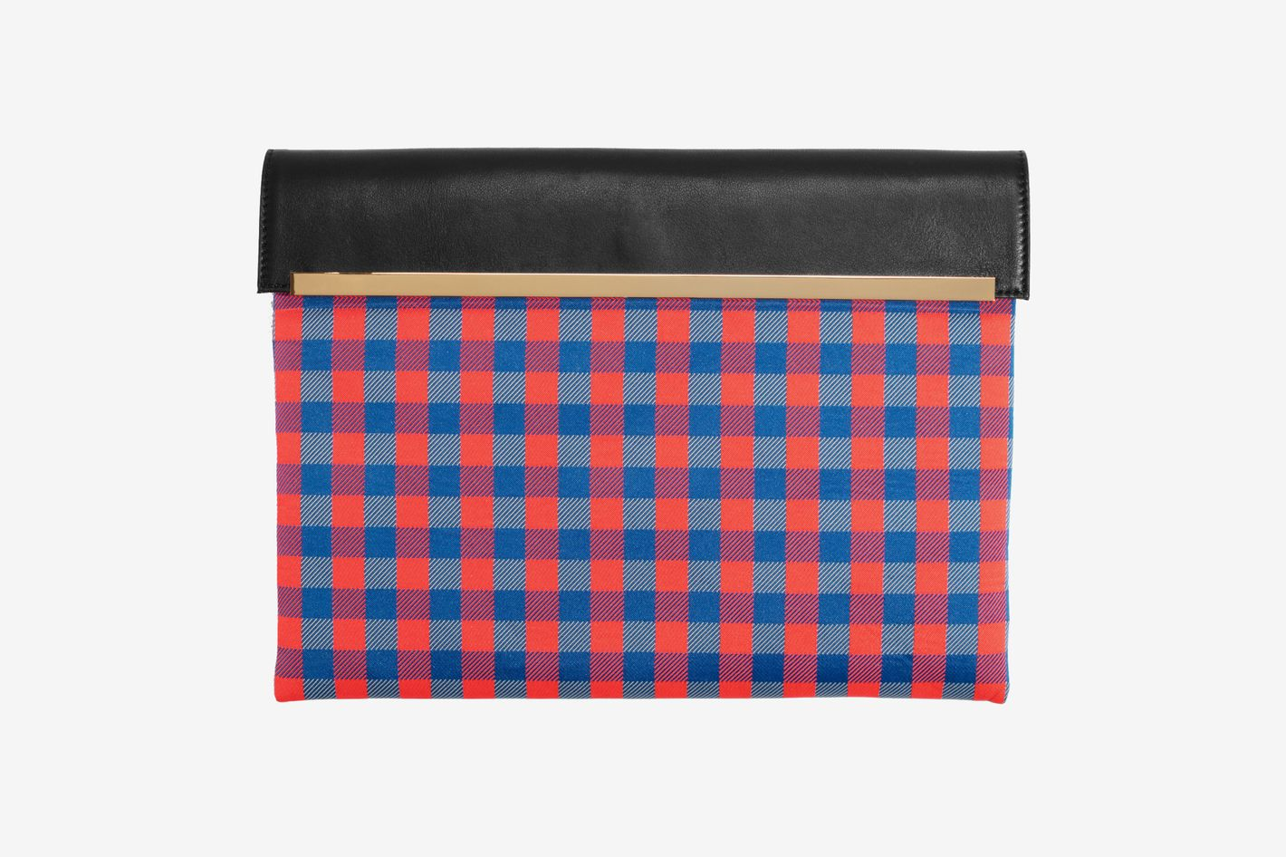 Large Gingham Clutch