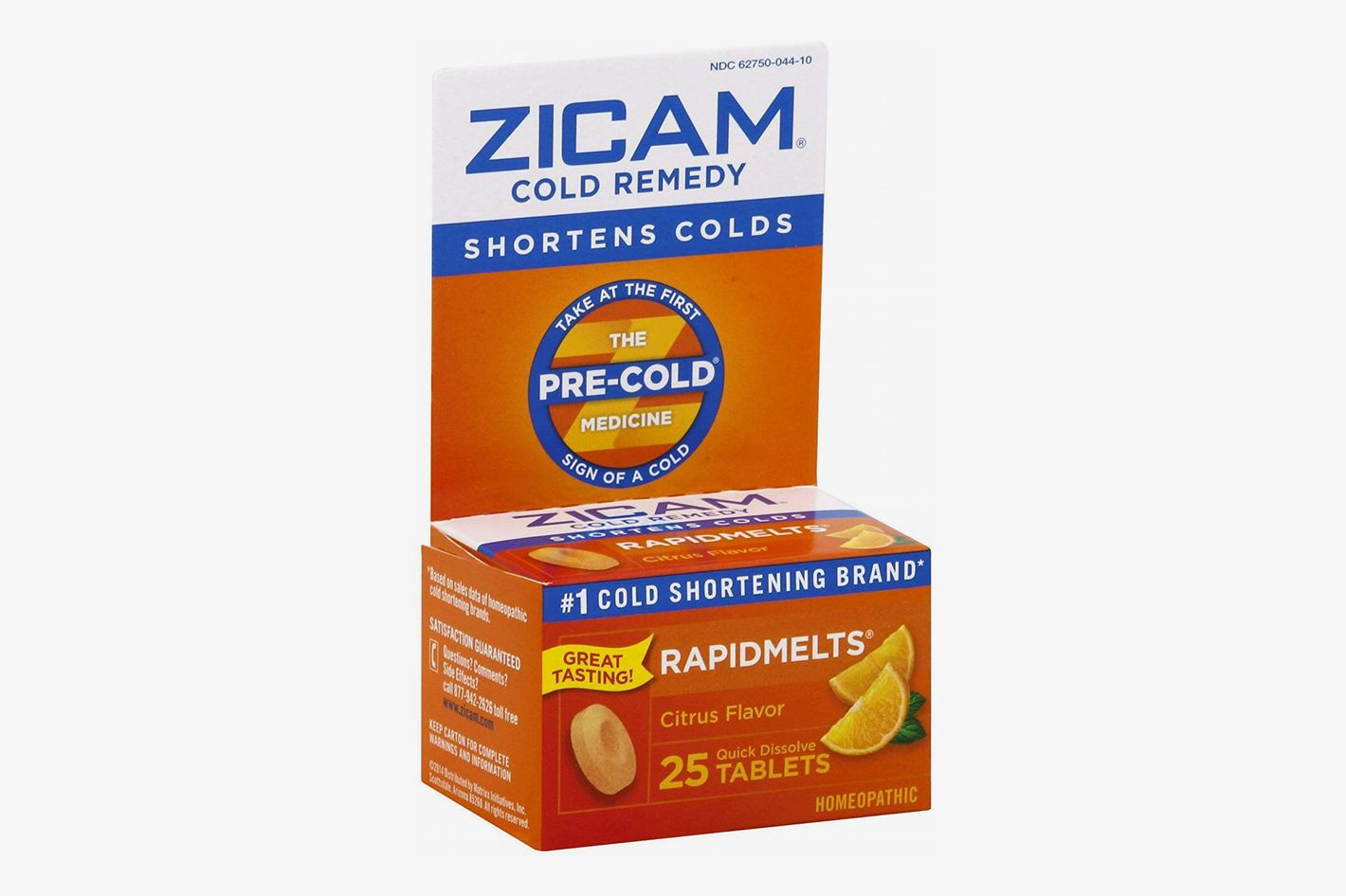 Zicam Cold Remedy Citrus RapidMelts, 25 Quick Dissolve Tablets