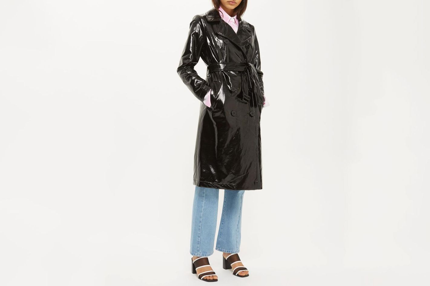 Clean Vinyl Trench Coat