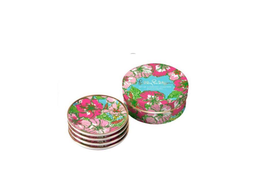 Lilly Pulitzer Big Flirt Ceramic Coasters/Set of Four