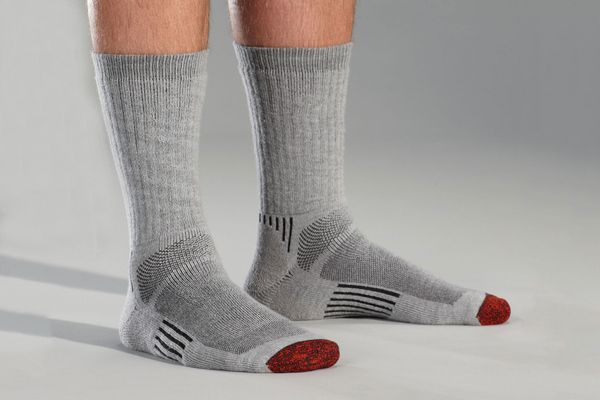 Thirty 48 Running Socks for Men and Women Coolmax Fabric Keeps Feet Cool and Dry Gray//Gray Large