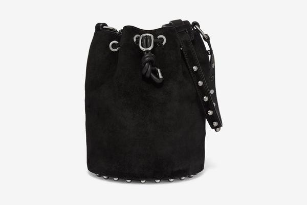 ALEXANDER WANG Alpha studded suede shoulder bag