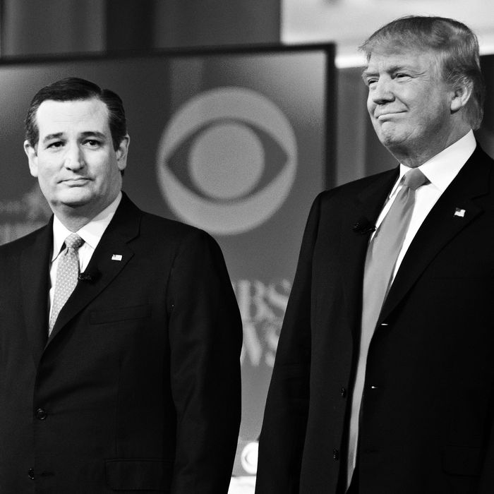 Ted Cruz and Donald Trump.