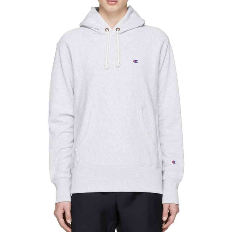 Champion Reverse Weave Grey Small Logo Hoodie