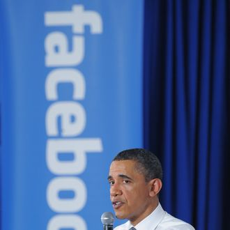 US President Barack Obama speaks during a town hall meeting April 20, 2011 at Facebook headquarters in Palo Alto, California. AFP PHOTO/Mandel NGAN (Photo credit should read MANDEL NGAN/AFP/Getty Images)