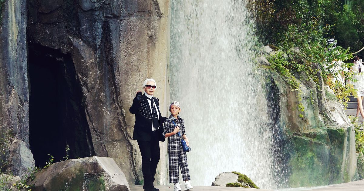 Chanel Created a Waterfall for Their Runway