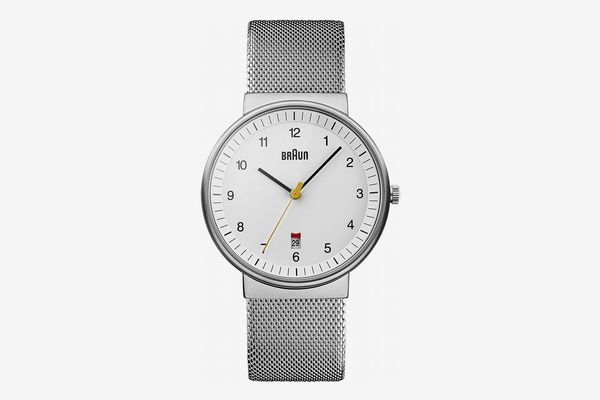 Braun Classic Mesh Japanese Quartz Silver Watch