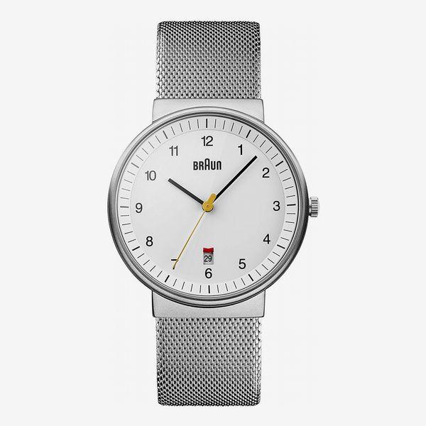Braun Classic Mesh Japanese Quartz Silver Watch