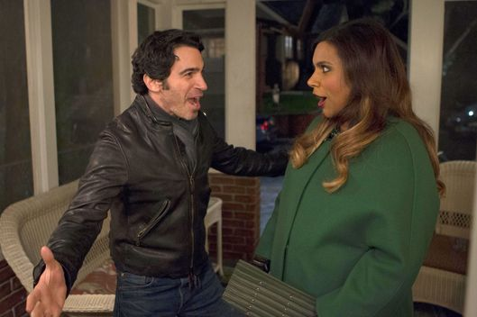 "THE MINDY PROJECT:  Danny (Chris Messina, L) has a surprise for Mindy (Mindy Kaling, R) in the season finale ""Best Man"" episode of THE MINDY PROJECT airing Tuesday, March 24 (9:30-10:00 PM ET/PT) on FOX.  ?2015 Fox Broadcasting Co.  Cr:  John P. Fleenor/FOX"