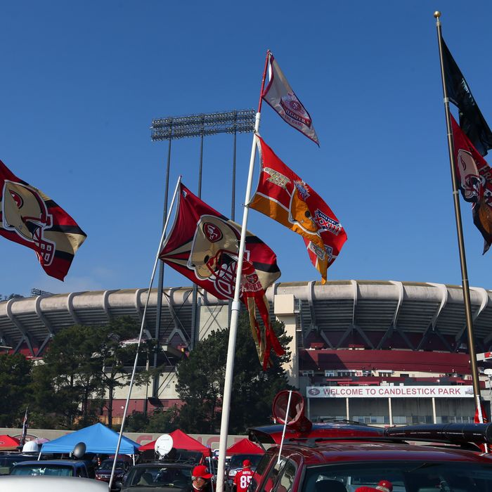SAN FRANCISCO, CA - NOVEMBER 10: Exterior general view of the outside of Candlestick Park before the game between the Carolina Panthers and San Francisco 49ers at Candlestick Park on November 10, 2013 in San Francisco, California. (Photo by Brad Mangin/Getty Images) *** Local Caption ***
