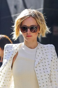 Actress Jennifer Lawrence spotted leaving the 'Good Morning America' studios on Monday April 21 in New York City.