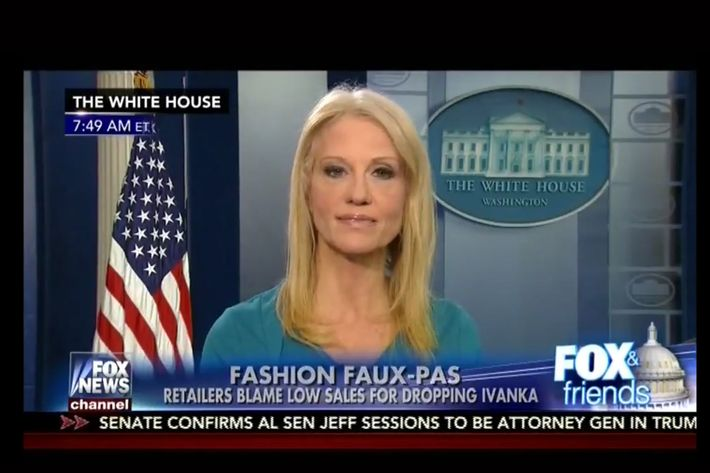 Kellyanne Conway's plug from the White House: 'Go buy Ivanka's stuff'