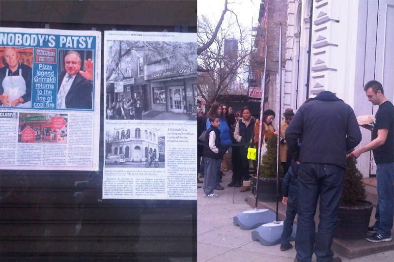 The line outside the current Grimaldi's.