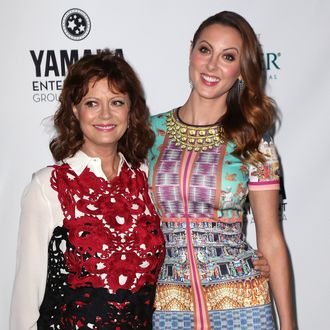 BEVERLY HILLS, CA - SEPTEMBER 19: Actress Susan Sarandon (L) and daughter actress Eva Amurri Martino attend Heifer International's