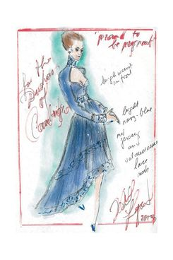 Karl Lagerfeld's design for Kate Middleton.