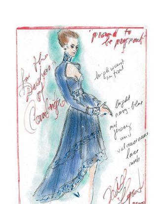 Karl Lagerfeld's design for Kate Middleton.