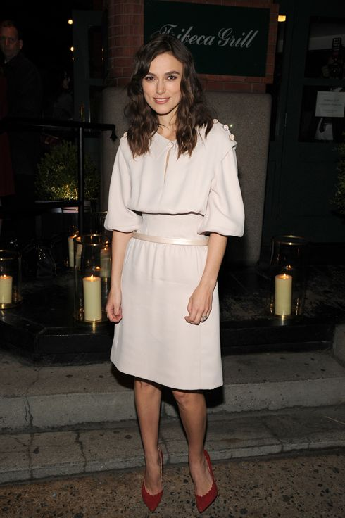 "Actress Keira Knightley attends the CHANEL Dinner in honor of the 2014 Tribeca Film Festival closing night film ""Begin Again"" at Tribeca Grill on April 26, 2014 in New York City."
