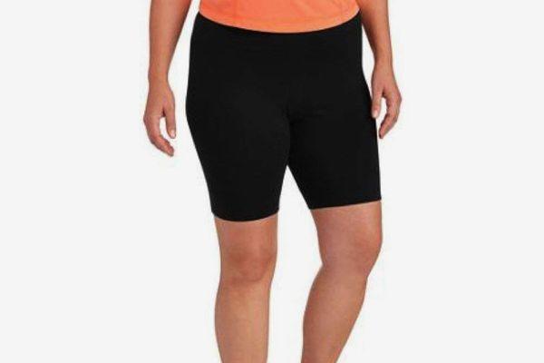 Danskin Now Womens Black Plus Sized Bike Short