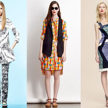From left: new resort looks from Thakoon, Adam, and Derek Lam.