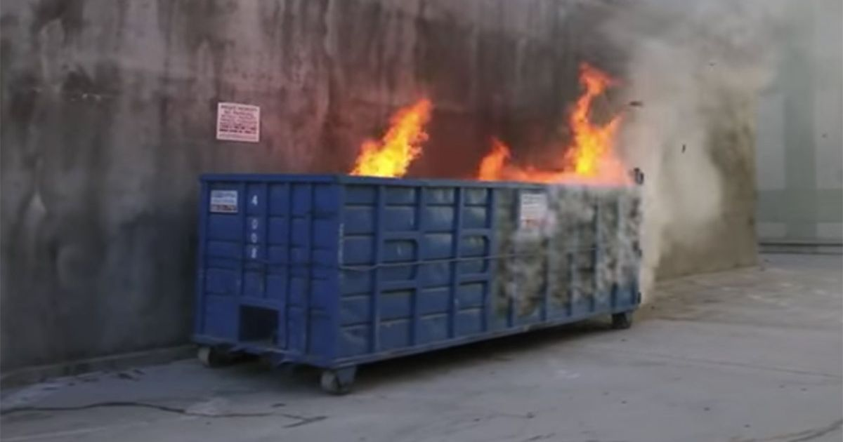 True Story Behind The Election Dumpster Fire GIF - Us electoral map fire