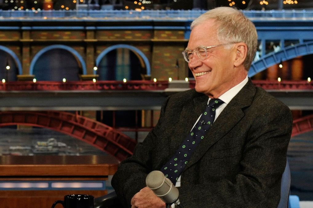 "NEW YORK - MARCH 31: Actress Cobie Smulders from the CBS comedy series ""How I Met Your Mother"" talks to Dave about the series finale on the Late Show with David Letterman Monday March 31, 2014 on the CBS Television Network. (Photo by Jeffrey R. Staab/CBS via Getty Images) *** Local Caption *** David Letterman;Cobie Smulders"