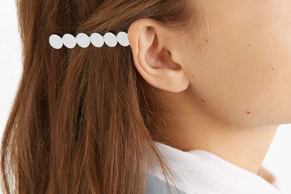 Saskia Diez Paillettes Silver-Plated Hair Slide